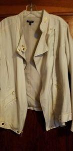 Womens Apt 9 white jacket.